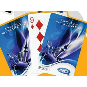 Plastic Coated Playing Card Deck (4 Color)