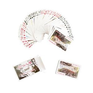 Standard 54Pcs Paper Poker Playing Cards with Customized Logo
